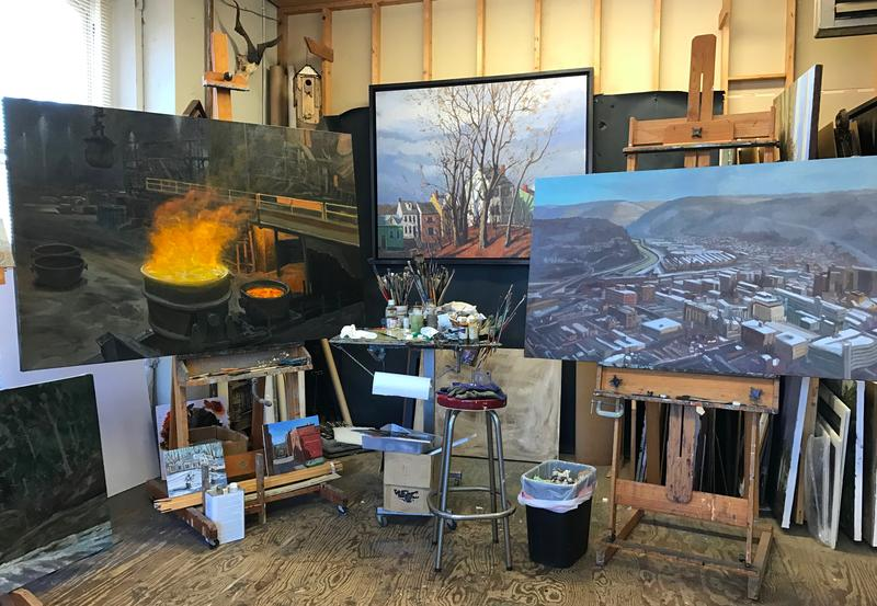 Some of Donoughe's larger paintings