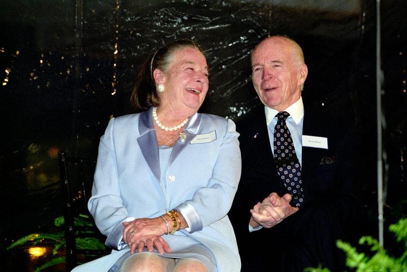 Henry Hillman and wife Elise at the opening of the Hillman Center in 2002. Henry Hillman died Friday at the age of 98.