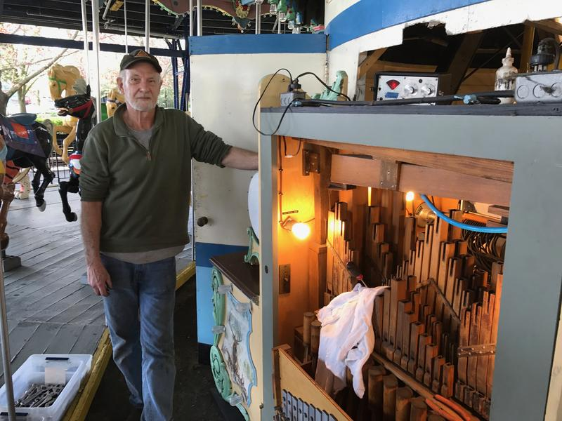 Joe Hilferty has been servicing the Kennywood Organ for two  years. He tunes it and makes sure it's ready to go and run 10 hours a day in the summer.