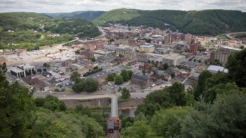 A bird's eye view of Johnstown, Pa.