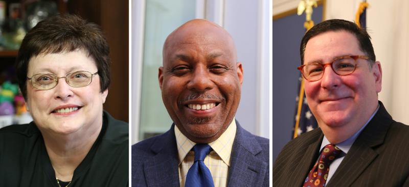 Democratic mayoral candidates, from left to right, City Councilwoman Darlene Harris, Rev. John Welch and current Mayor Bill Peduto.