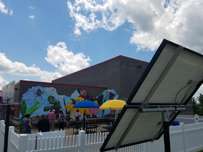 The Fort Cherry Discovery Zone officially opened Tuesday and features two gardens and a solar-powered weather station.