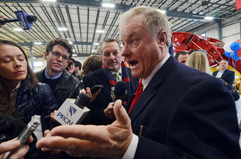 Republican state Sen. Scott Wagner, of York County, announces that he will run for Pennsylvania governor on Wednesday, Jan. 11, 2017 in Manchester, Pa.
