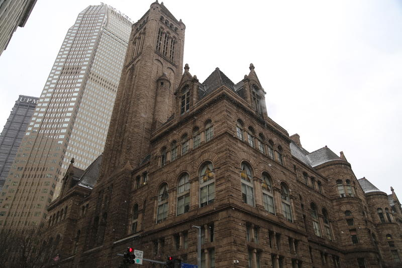 The Allegheny County Courthouse located in downtown Pittsburgh.