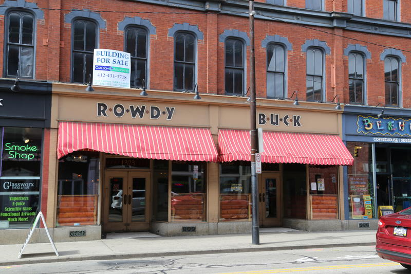 Rowdy Buck, a popular bar on Pittsburgh's East Carson Street, was closed Monday afternoon after a shooting left a West Mifflin man dead shortly after 1 a.m. Sunday, May 21, 2017.