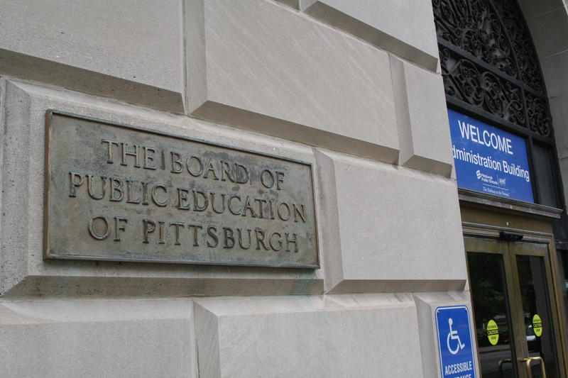 The outside of the Pittsburgh Public Schools Administration Building.