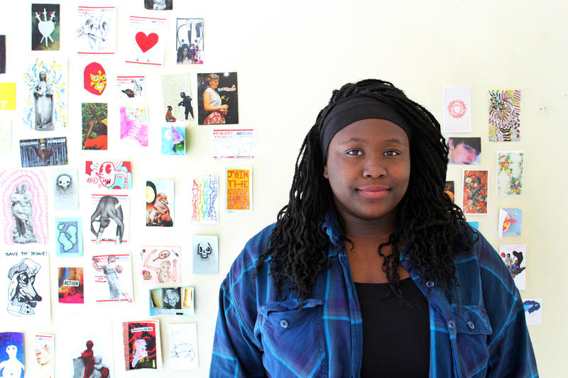 Pittsburgh CAPA senior Zainab Adisa poses for a portrait at her high school.