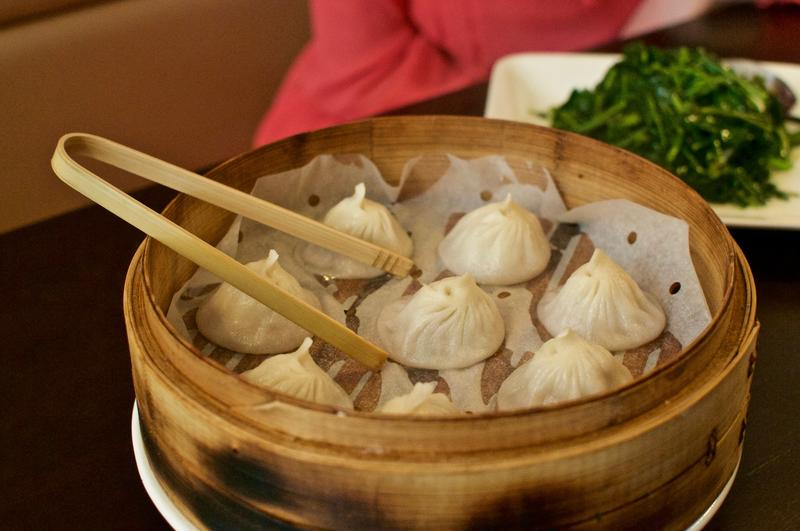 Soup dumplings at Café 33 in Squirrel Hill.