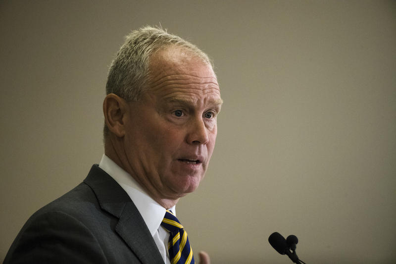 Speaker of the House of Representatives, Rep. Mike Turzai, R-Allegheny, speaks during the Pennsylvania Press Club luncheon in Harrisburg, Pa., Monday, May 22, 2017.