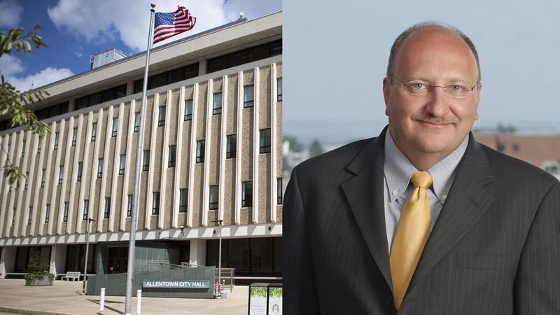 Allentown Mayor Ed Pawlowski and City Hall in Allentown, Pa.