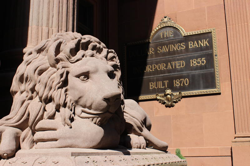 Lions can be seen throughout the architecture on Pittsburgh's Fourth Ave. They're traditionally a symbol of power and wealth and are meant to protect anything of value.