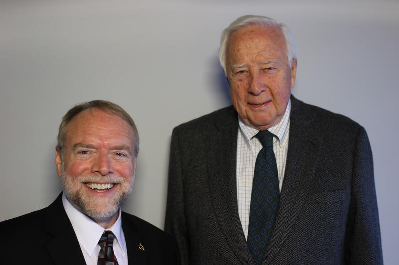 David McCullough, right, with Andy Masich