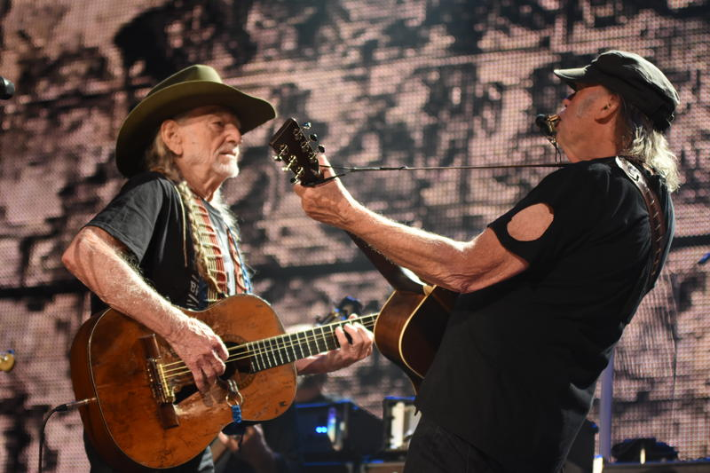 Willie Nelson and Neil Young perform at Farm Aid 2016 in Bristow, Virginia. The 2017 show will be in Burgettstown, PA.