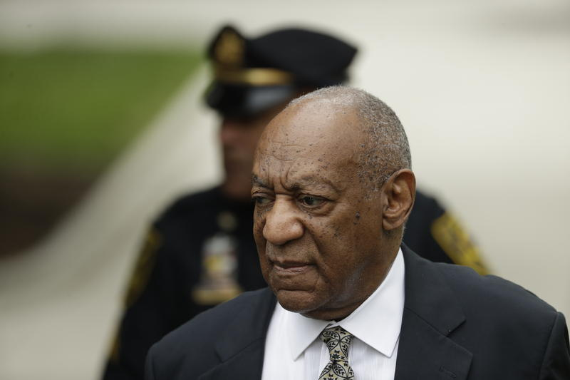 Bill Cosby arrives at the Montgomery County Courthouse during his sexual assault trial, Thursday, June 15, 2017, in Norristown, Pa.