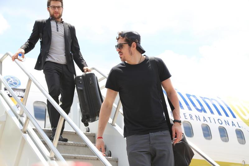 Pittsburgh Penguins alternate captain Evgeni Malkin arrives in Pittsburgh.