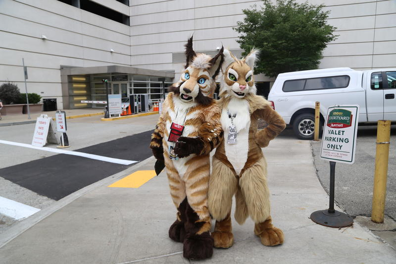 Sabrekatz (left) of South Carolina attends their fourth Con, along with Mila (right) of North Carolina, who is attending the Con for the third year in a row.