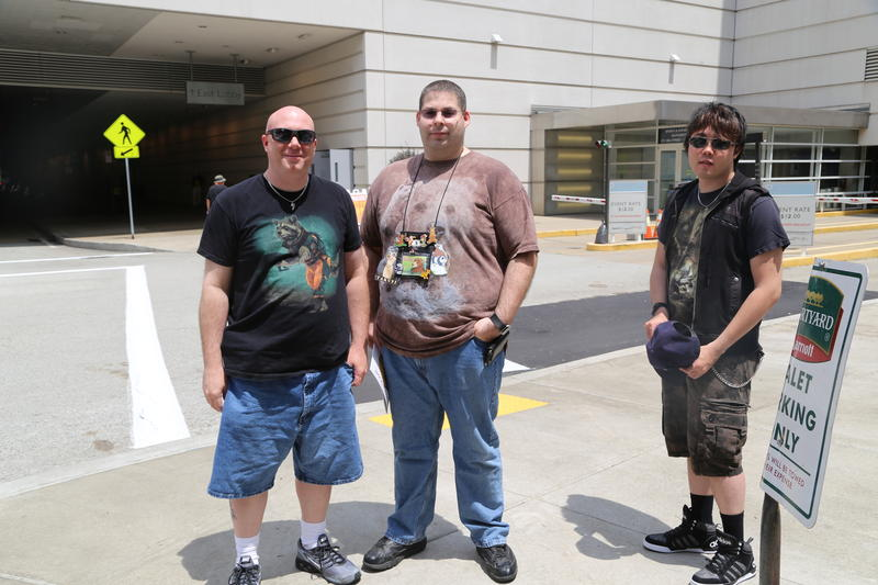 David (left) and Buzz (center) attend their 20th Con, along with Chris (right), here for their second Con, all from Maryland.