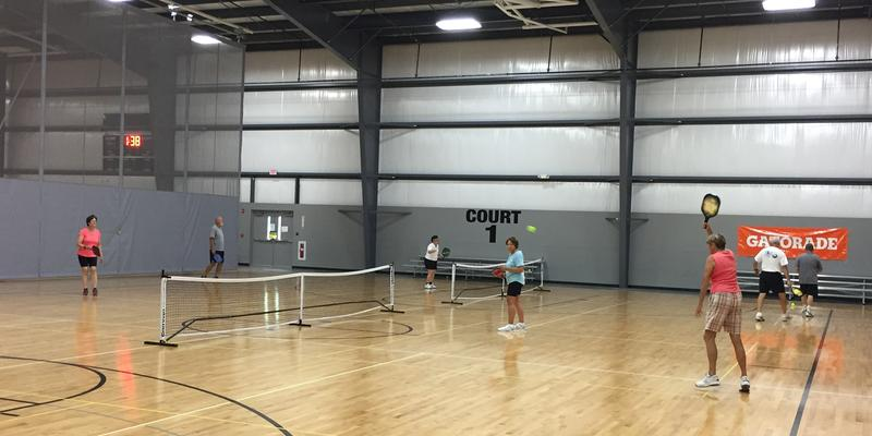 At the Southpointe Courthouse in Canonsburg, Pa., pickleball players meet each week to compete and socialize. The sport has been growing among adults and children in the region recently.