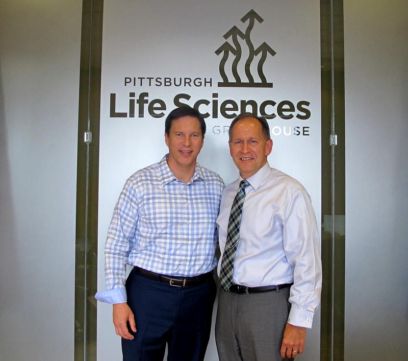 Pittsburgh Life Sciences Greenhouse CEO (Left) and Helomics Vice President Donald Very Believe the recently annonced deal will help grow the tech industry in Pittsburgh.