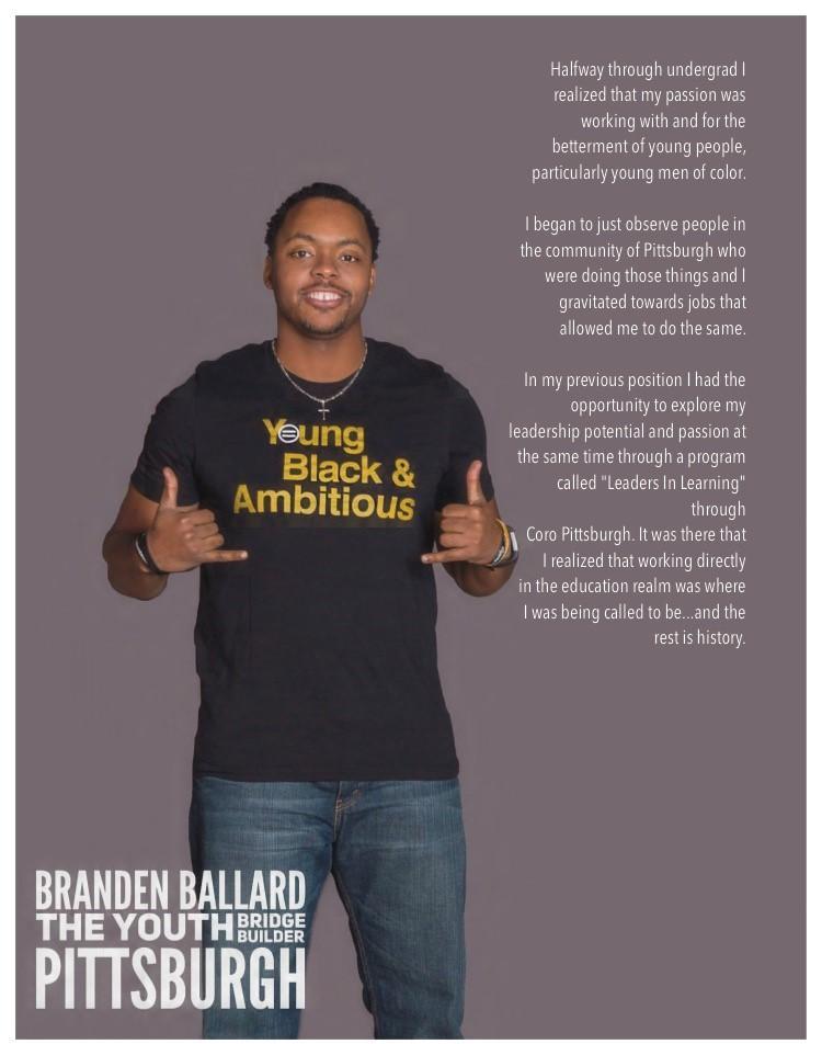Branden Ballard, as featured in the book YNGBLKPGH