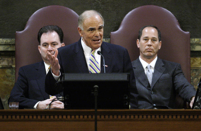 Then-Pennsylvania Gov. Ed Rendell delivers his executive budget address for the fiscal year 2010-11. Rendell says Pennsylvania's current deficit problem is in large part due to the 2008 housing market crash and the Great Recession.