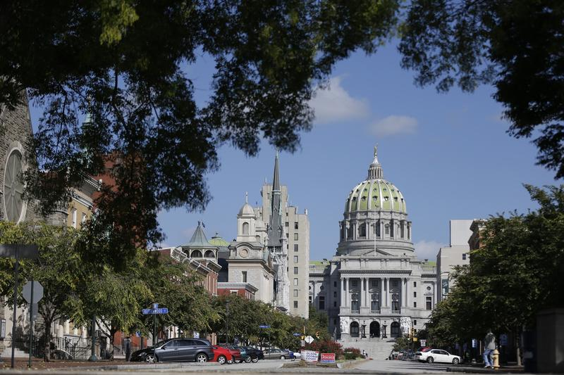 Shown is the Pennsylvania Capitol building Wednesday, Oct. 7, 2015, in Harrisburg, Pa.