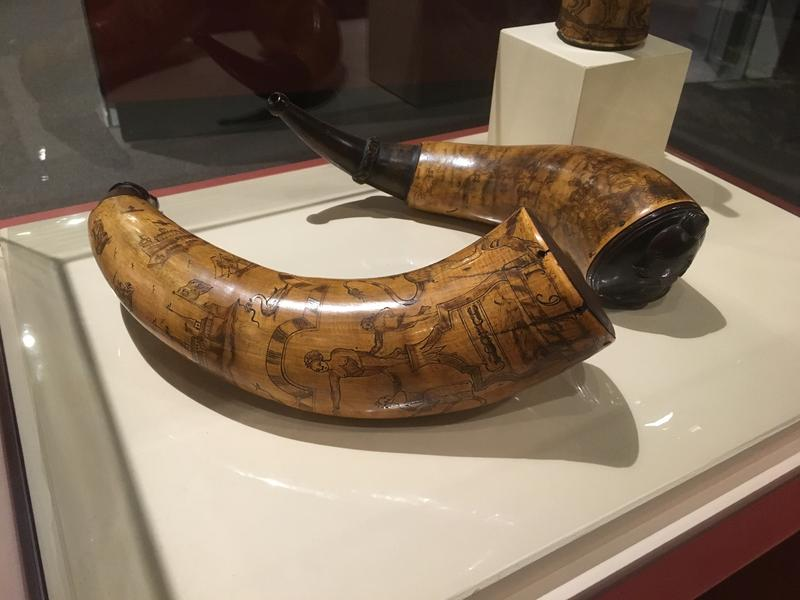 Carved powder horns held gunpowder for colonial Americans, soldiers and American Indians. There are over 60 on display at the Fort Pitt Museum in Point State Park beginning this weekend.