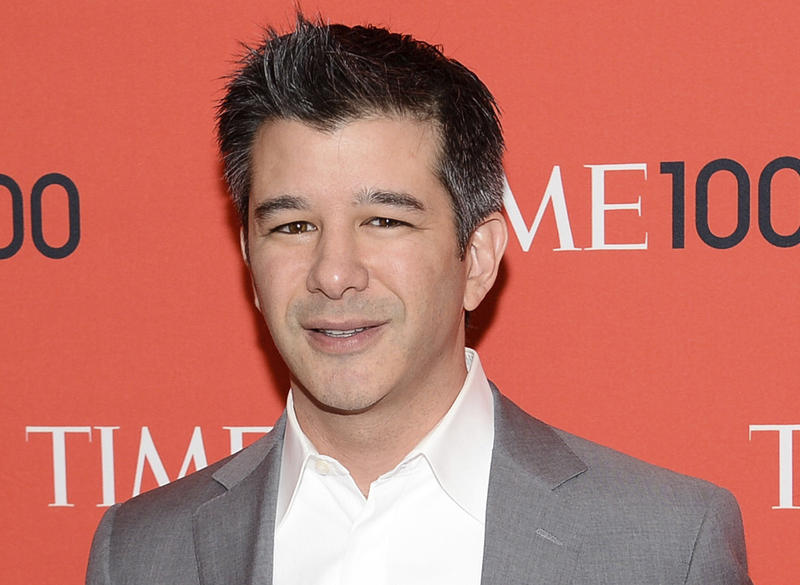 In this April 29, 2014 file photo, Uber CEO Travis Kalanick arrives at the 2014 TIME 100 Gala in New York.