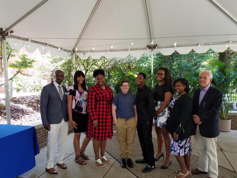 Scholarship recipients and HCEF Directors pose following the Hope Through Learning Awards ceremony at the National Aviary Thursday, July 20.