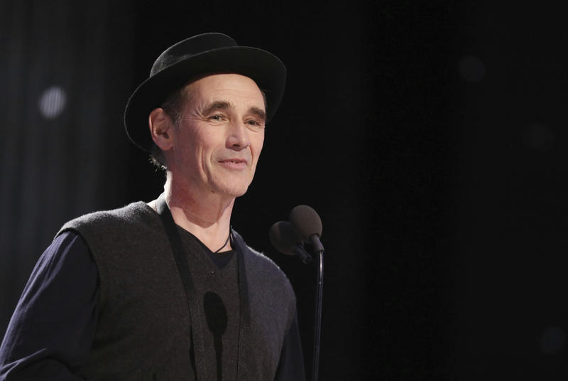 Mark Rylance appears during a rehearsal for the 89th Academy Awards on Saturday, Feb. 25, 2017.