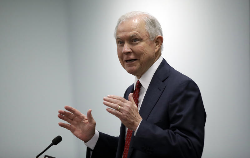 Attorney General Jeff Sessions speaks at the U.S. Attorney's Office in Philadelphia, Friday, July 21, 2017.