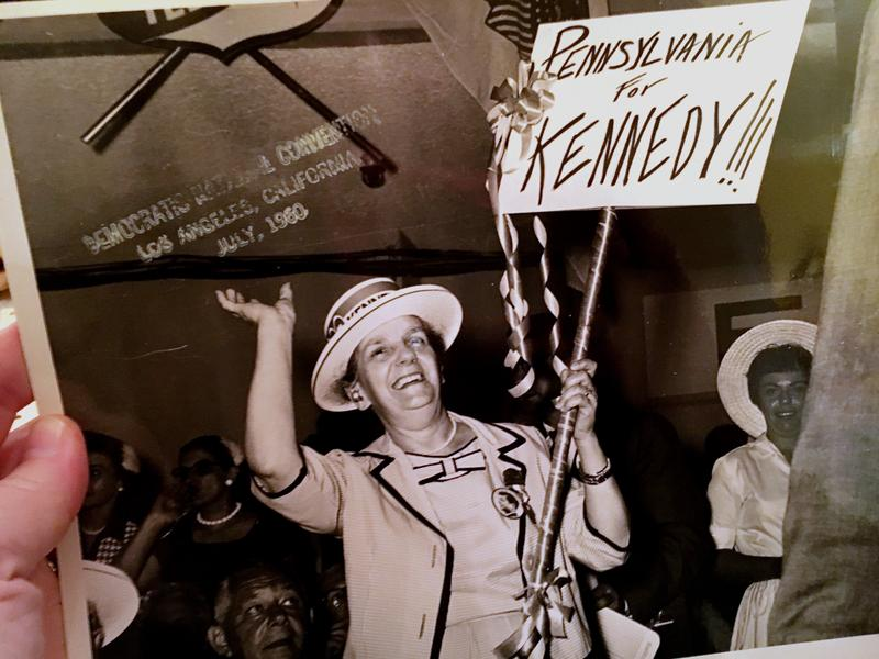Irma D'Ascenzo, Pittsburgh's first female council member, at the Democratic National Convention in 1960. D'Ascenzo served on council from 1956-1970.