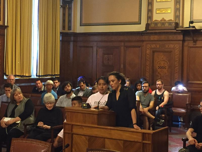 A few dozen speakers addressed Pittsburgh City Council on Wednesday, July 12, 2017, asking for Sanctuary City legislation.