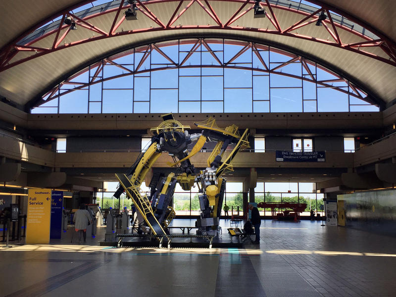 Pittsburgh International Airport created an art residency program to add to its growing collection of public art.