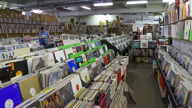 Jerry Weber has operated Jerry's Records out its Squirrel Hill location since the early 90s. He estimates there are as many as 500,000 records in the store.