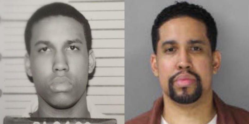 This combination of photos from the Pennsylvania Department of Corrections shows a younger Giovanni Reed, left, and in March 2016, right.