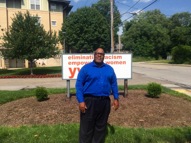 Dr. Allen Lane stands outside the Homewood Children's Village offices at the YWCA on Frankstown Avenue in Homewood.