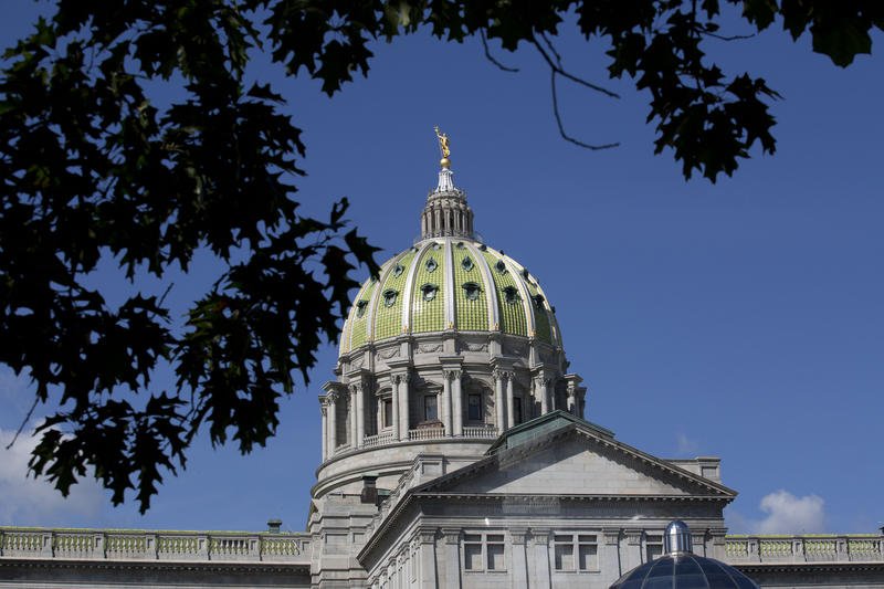 The Pennsylvania Capitol building in Harrisburg, Pa., as seen on Aug. 21, 2015.