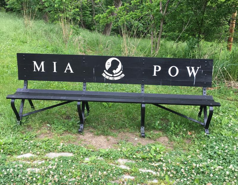 The MIA POW bench typically goes on display toward the end of May, but Schenley Park foreman Gary Sciulli says sports schedules and events can change the display times.