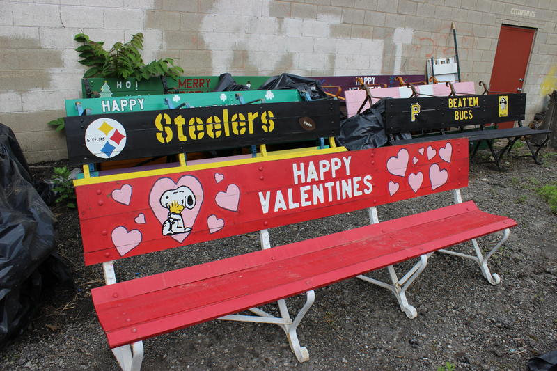 For a little more than a decade, Schenley Park foreman Gary Sciulli and his team have been painting old benches for causes or seasons. There are currently 14 different benches.