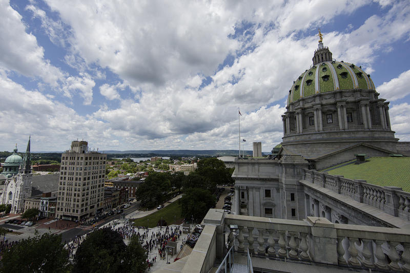 The Pennsylvania Capitol building in Harrisburg, Pa., as seen on June 20, 2017.