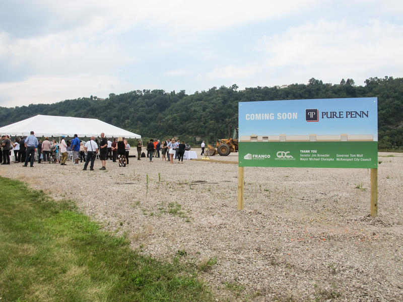 PurePenn's facility will be built at the RIDC industrial park in McKeesport, which was home to steel processing plants for more than a century.