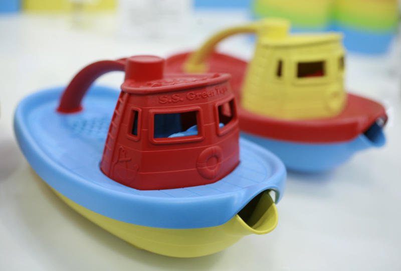 Green Toys, a San Francisco-based company, makes its toy tugboats from recycled plastic milk containers that are free of BPA, PVC and phthalates.