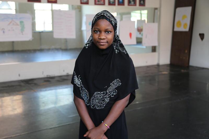 Mbavumoja Hussein, 12, from Congo