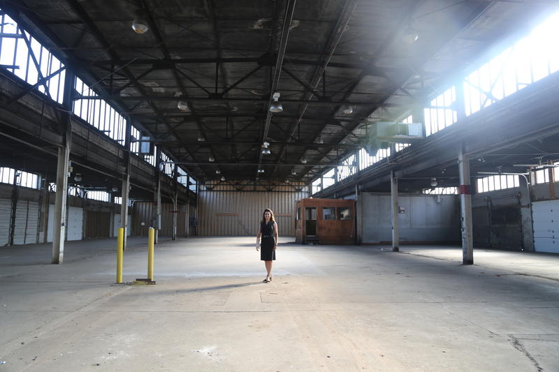 The Produce Terminal building is 100 feet wide and roughly 1,600 feet long. The cavernous space has the potential to be an amenity for the whole city, said Pamela Austin, senior project manager for developer McCaffery Interests.