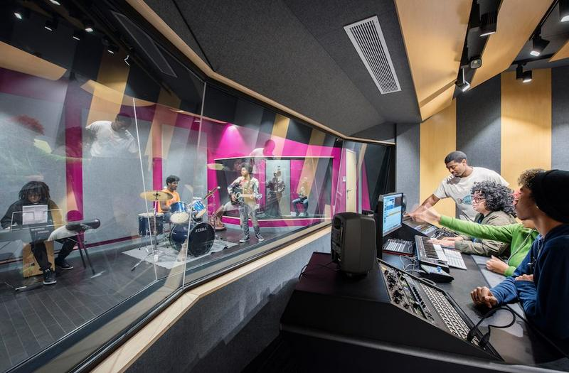 Recording studio at Homewood-Brushton YMCA's Lighthouse Project