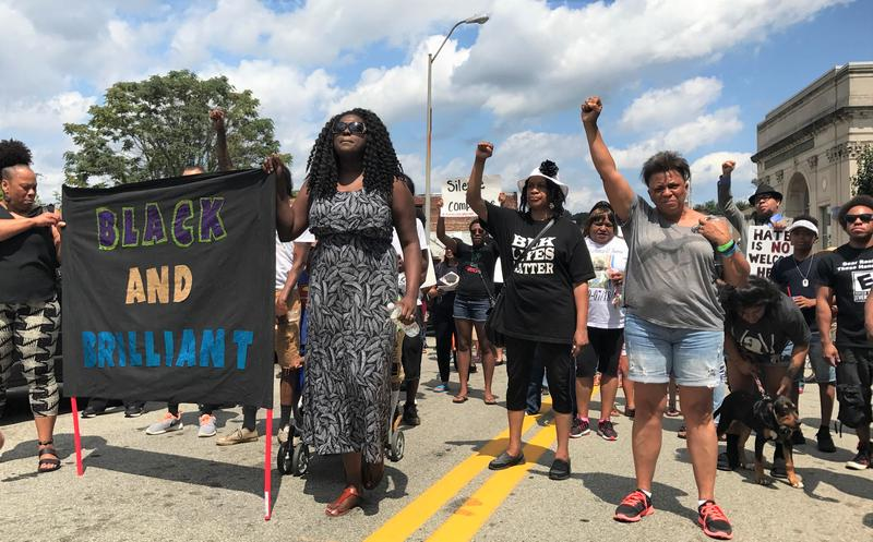 The Black Brilliance Collective March and Gathering took place in Pittsburgh's Homewood neighborhood on Saturday, Aug. 19, 2017. About 300 people showed up to celebrate the black community.