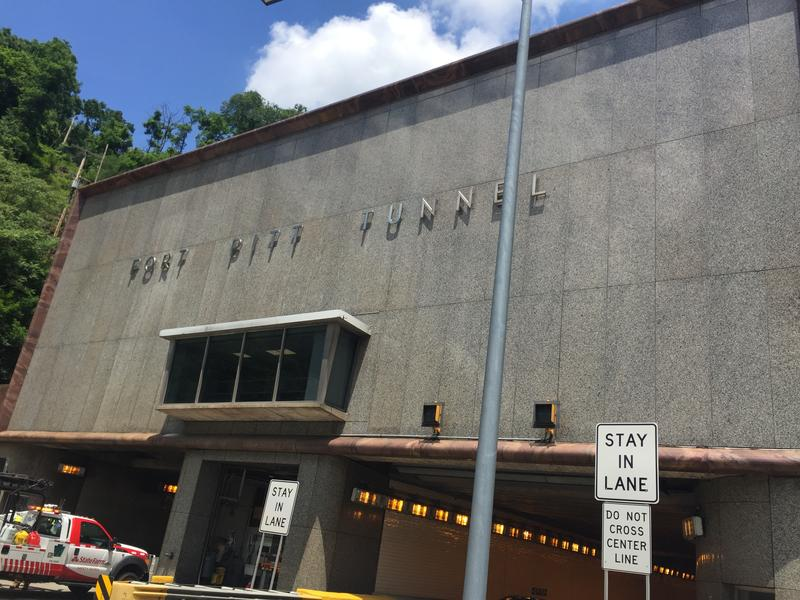 Outside the Ft. Pitt, which was opened in 1960. The tunnels were built to accommodate Pittsburgh's growing suburban population.