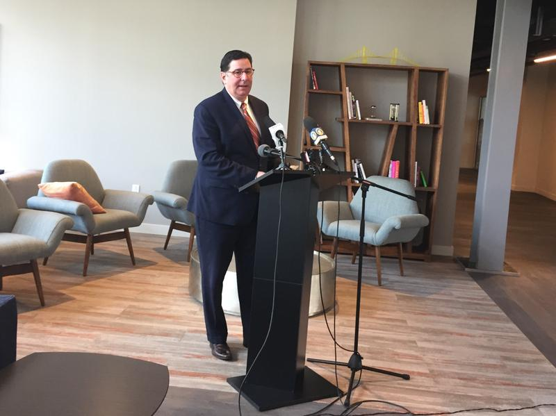 Mayor Bill Peduto spoke at the event.