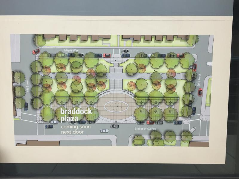 Development plans for Braddock Civic Plaza.